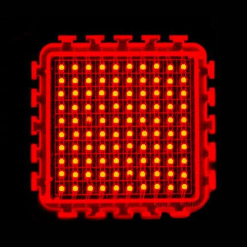 100W 22~24V 3000mA Deep Red 660nm Square Base SMD LED Light Part Plant Growing lamp