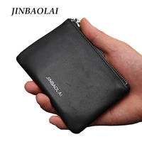 2017 Fashion Men Genuine Leather Coin Purse Small Wallet