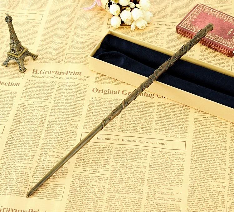 2018 varita mágica de Harry Potter con núcleo de Metal de última calidad de lujo porque Hermione Granger varitas mágicas/palo con embalaje de caja de regalo