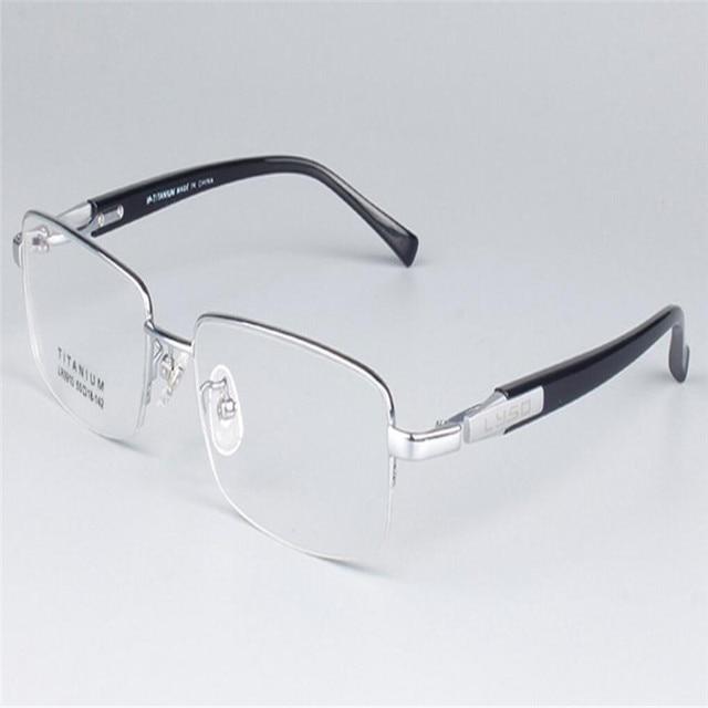 8064b5ebe41d MONGOTEN Brand Design Business Men Fashion Half Rim Alloy Titanium  Ultralight Myopia Eyewear Clear Lens Optical Eyeglasses Frame