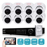 SUNCHAN HD AHD H 1080P 2 0 Megapiexl 8CH AHD CCTV Security Camera System 3000TVL Indoor
