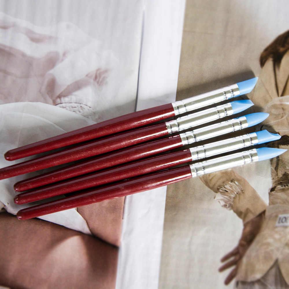5 pz Unghie artistiche del Mestiere di Ceramica di Strumenti di Argilla Intagliare Scultura Utensili per la Scultura Torta Oli di Gomma Della Penna Strumento Pennello
