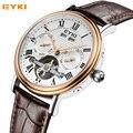 EYKI Men's Automatic Watches Luxury Top Brand Leather Strap Date Business Mechanical Watch Fashion Waterproof Relogio Masculino