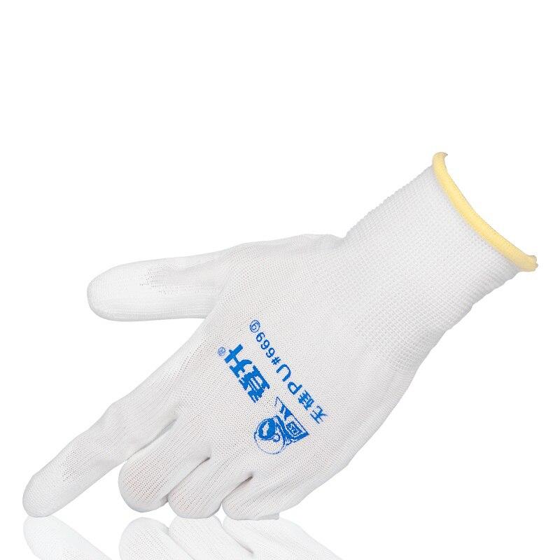5/12 pares de guantes de trabajo blancos revestimiento de poliuretano de látex sumergido sin instrumento de precisión de taller resistente al desgaste de silicio Zigbee rgb led velas APP control with3.0 gateway smartthings 4w rgbw blanco cálido cool white LED e12 e14 tapy