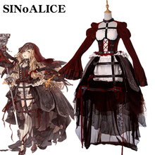 2017 New Game SINoALICE Violent  Little Red Hat Cosplay Costume Halloween Party Vestal Uniform Fancy Ball Deluxe Full Dress