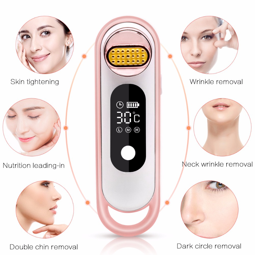 RF Facial Beauty Machine Electric Face Lifting Tighten Remove Wrinkle Massager Rejuvenation Anti-aging SKin Pores Cleaner Device