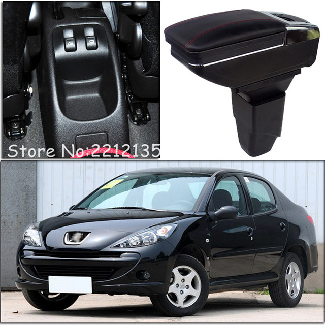 FREE SHIPPING ROTATABLE CAR ARMREST FOR PEUGEOT 206 207 Car ...