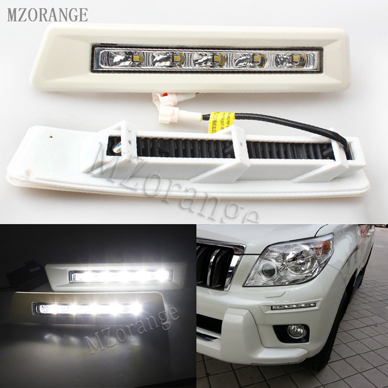 MZORANGE 1 Set 12v CAR LED DRL Daytime Running Light for Toyota Prado FJ150 LC150 2010 2011 2012 2013 Land Cruiser 2700/4000 active random floral print high waisted tracksuit in pink