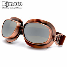 154a421c340f8 BJMOTO Cool Vintage Style Motorcycle Helmet Goggles Scooter Glasses Aviator  Pilot Eyewear Cruiser Steampunk 5 Colors