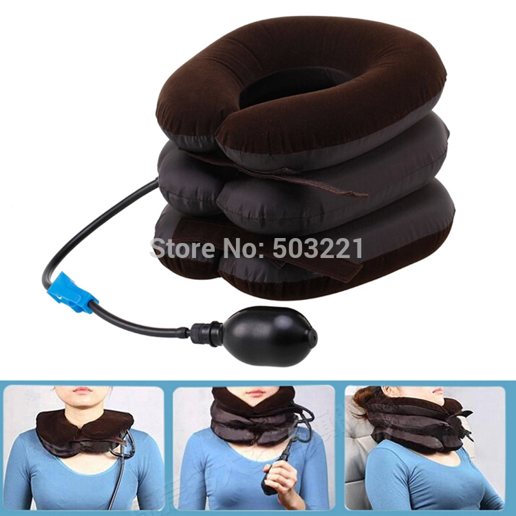 Air Cervical Soft Neck Brace Device Headache Back Shoulder Pain Cervical Traction Device Comfortable Neck Massage Relaxation health care neck brace headache back shoulder pain relief hammock cervical neck traction device neck muscle massage stretcher