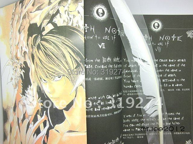Wholelsale/Retail Free Shipping 2012 Fashion Hot New Death Note Cosplay 3pcs Set Large Notebook+Poster+Feather/Quill Pen