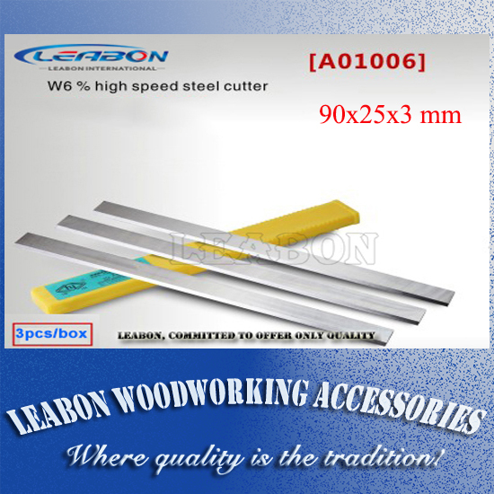 a01001005 Leabon 100x25x3mm China Manufacturer Price Hss W18% Planer Knife Woodworking Tools Planer Blade Woodworking Machinery Parts