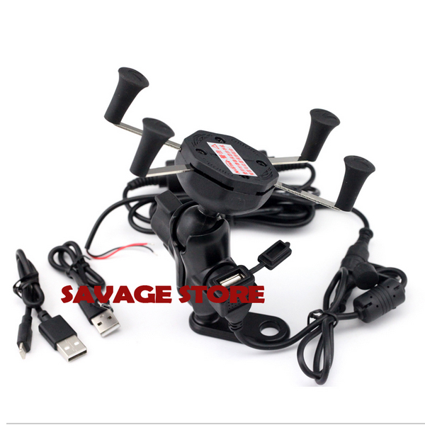 ФОТО Motorcycle Navigation Frame Navigation Mount Bracket with USB charge port For YAMAHA YZF-R3 YZF-R25 YZF R3 R25