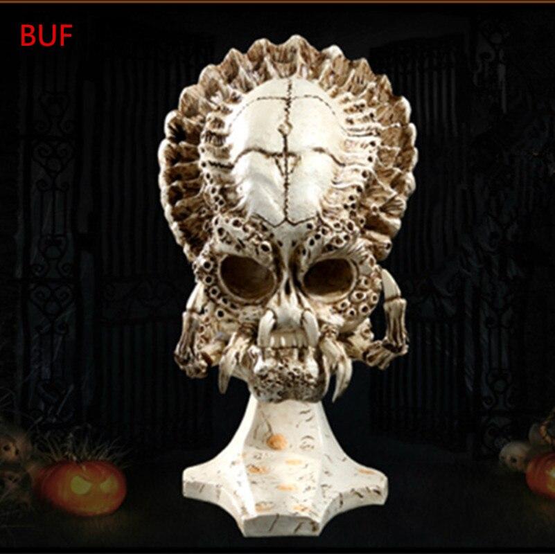 Résine artisanat crâne Statues et Sculptures créatif film personnage crâne Figurines Sculpture ornements pour la maison