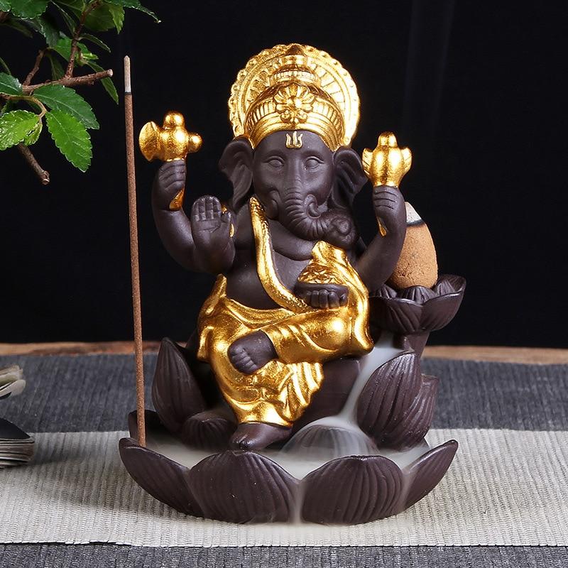 Ganesha  Back-flow Incense Burner