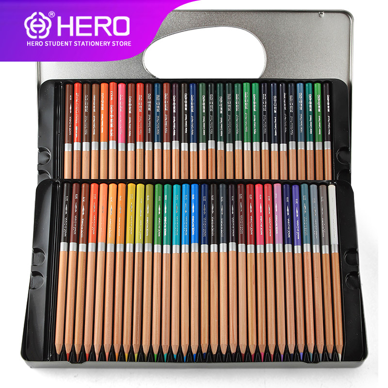 Hero Oily Colored Pencil Set 36/48/72 Colors Oil Painting Drawing Art Supplies For Write Drawing Lapis De Cor Art Supplies 3678 12 pcs nail art manicure tools set nails clipper scissors tweezer knife manicure sets stone pattern case for nail manicure