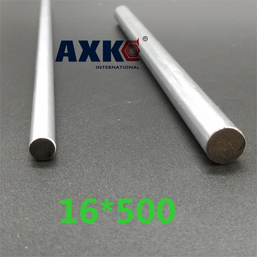 Axk 1pcs 16mm*500mm 16mm Linear Shaft 500mm Linear Round Shaft Linear Bushing Shaft Cnc Linear Rail 16mm Rod Harden 2pcs linear shaft 500mm long diameter 20mm l 500mm harden linear rod round shaft chrome plated