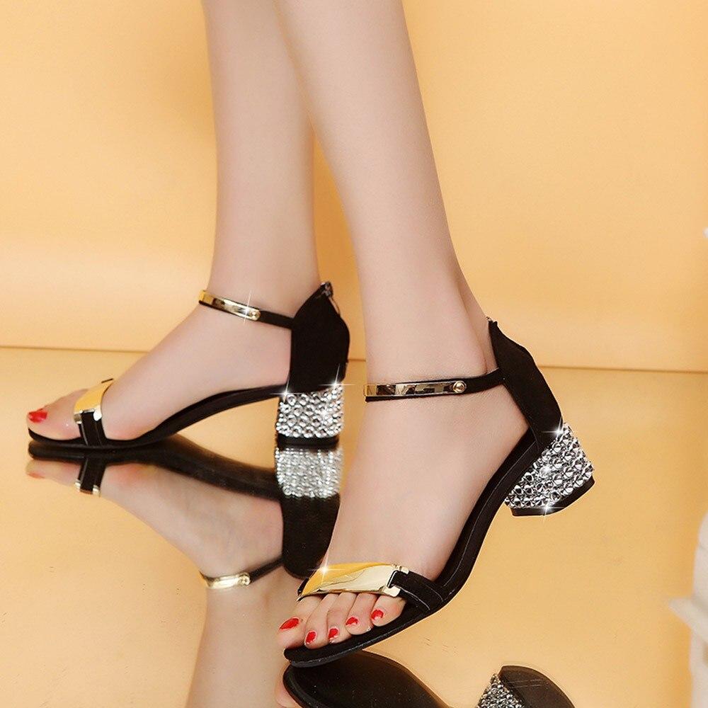 Schuhe Luxus Kristall Sommer Frauen Sandalen Offene Spitze Schuhe Flimmern Platz Ferse Schuhe Gladiator Schuhe # Xtn Die Nieren NäHren Und Rheuma Lindern
