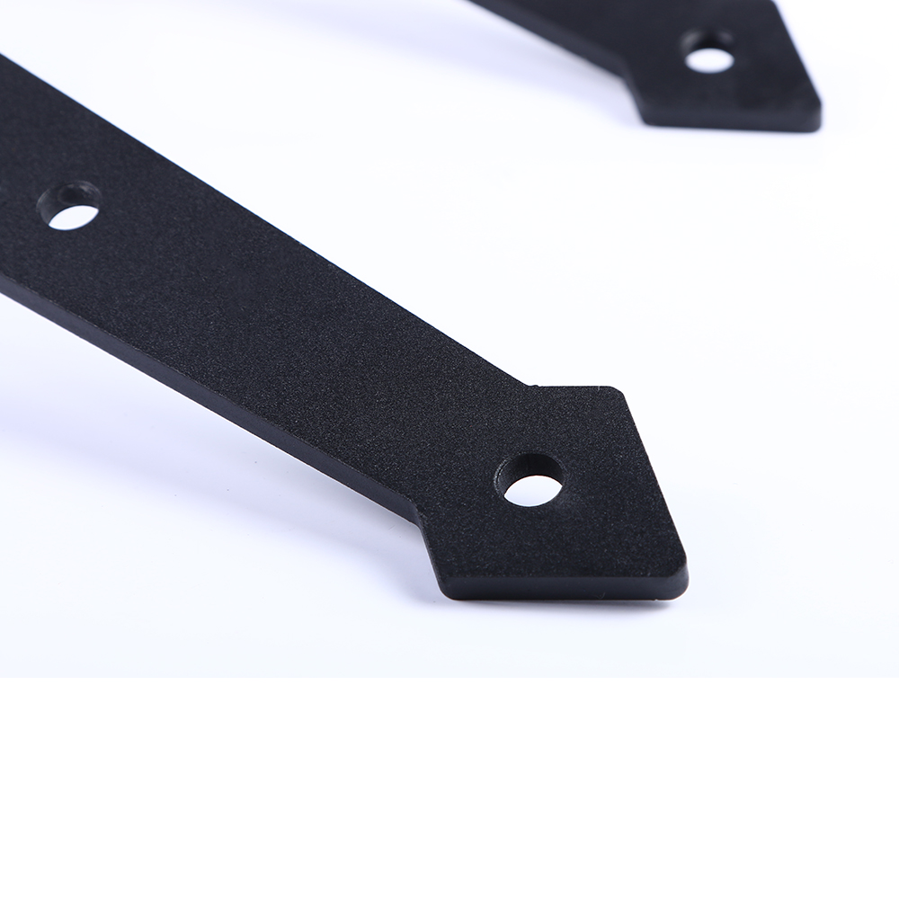 LWZH 14FT/15FT American Country Black Steel Arrow Shaped Sliding Barn Door Hardware Rail Track Kits for Sliding Double Door