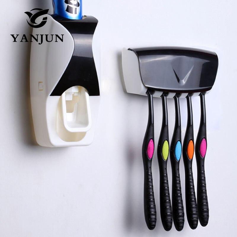 Comprar Yanjun hogar automático dispensador de pasta de dientes soporte de pared baño set dientes exprimidores YJ 7832 de squeezer fiable proveedores en yanjun Official Store
