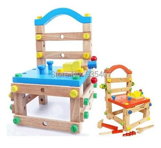 नई लकड़ी के बच्चे के खिलौने मल्टी-पोज़ोज़ वर्क चेयर