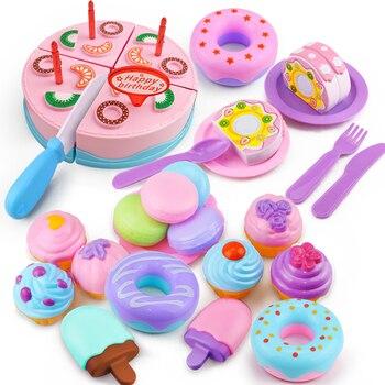 32 Uds DIY juego De frutas, torta De cumpleaños, Cocina, Comida, Juguetes,...