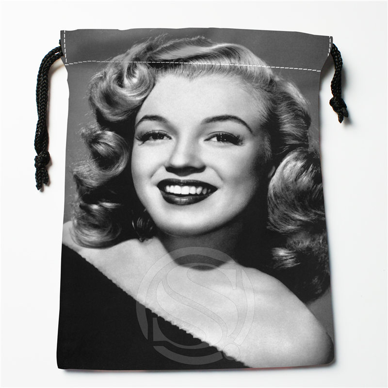 J&w9 New Marilyn Monroe #4 Custom Printed  Receive Bag Compression Type Drawstring Bags Size 18X22cm W725&JYi9