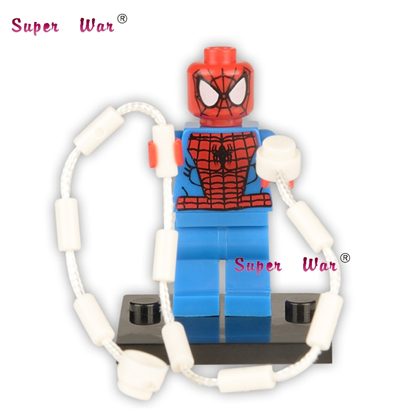 20pcs star wars superhero marvel Spider-Man building blocks action figure bricks model educational diy baby toys