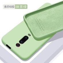 Capa de silicone líquido macio para celulares, capinha protetora traseira para smartphones xiaomi mi 9t, mi 9t mi9t cobertura completa do telefone