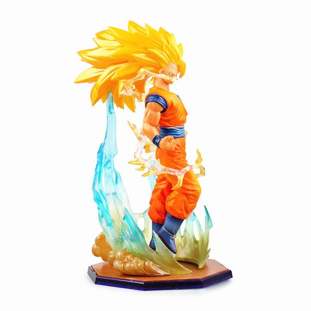 """[PCDragon Ball Z DBZ Super Saiyan 3 Son Gokou 15cm/6"""" PVC Figure No Box Free Shipping 5854-L"""