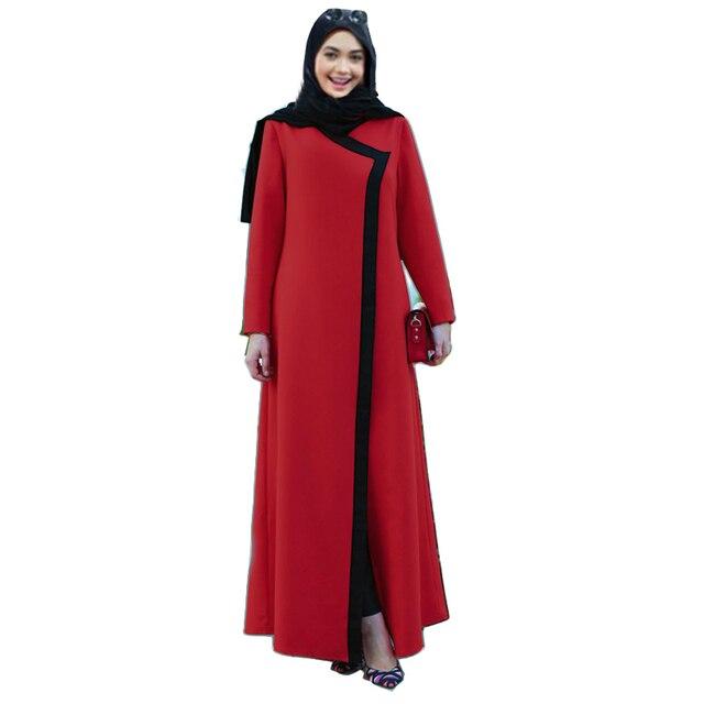 67ce25ebb Hot sale Indonesia Malaysia muslim evening dress 2019 dubai fashion Islamic  arab abaya cute red white