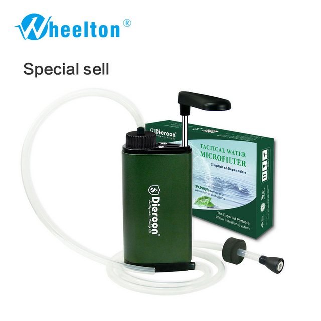 Portable Water Filter For Travel Hand Pump Test Kit Outdoor Filtration System Purifier