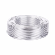 Alambre de aluminio, plata, 2mm de diámetro, acerca de 50 m/rollo