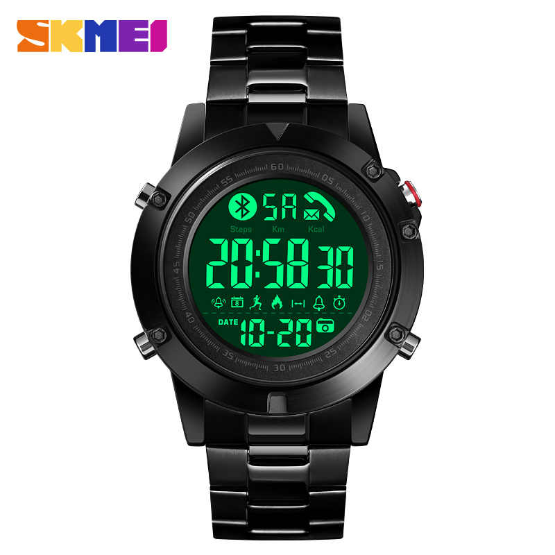 2020 SKMEI Sport montre intelligente 1500 Bluetooth Fitness Tracker podomètre appel rappeler calories étanche Smartwatch bracelet intelligent