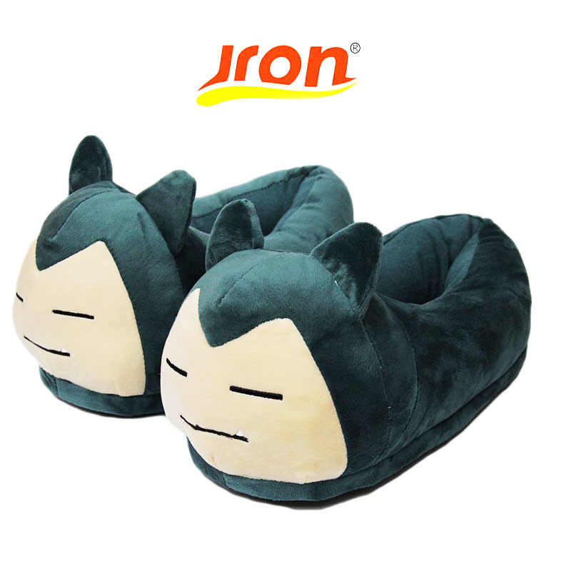 0ce66608901d Jron Unisex Anime Cartoon Pokemon Series Slipper House Women Warm Indoor  Wood Floor Home Plush Shoes