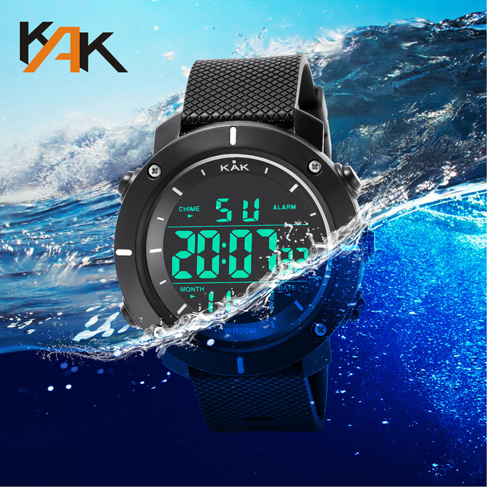 Wristwatch Military Sport Men LED Electronic Wrist Watch Luxury Digital Design Watches Men Outdoor Waterproof Life Quartz Watch