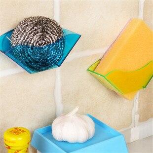 Double Suction Cup Sink Shelf Soap Sponge Drain Rack Bathroom Kitchen Sucker Storage Hot Sale