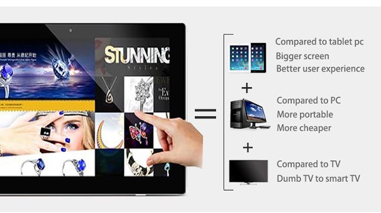 Lecteur de publicité intelligent Android 21.5 pouces avec tactile (station d'infirmière, écran de démonstration Sterling Ranch, système de point de vente, kiosque, aéroport)