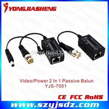 Free Shipping 1 ch UTP Video Balun Distance up to 600M With Power Transmission