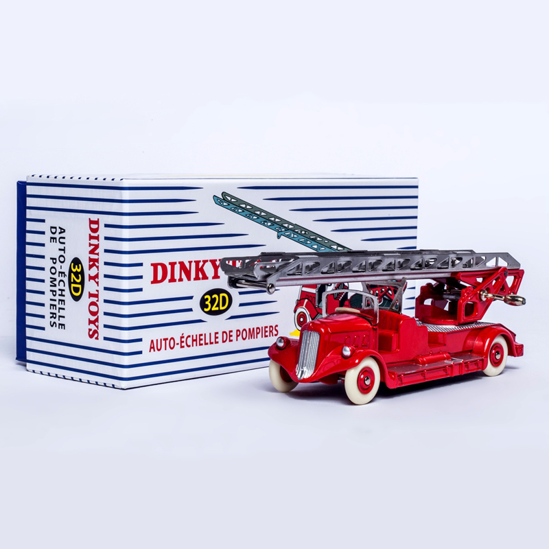Atlas Dinky Toys 32D AUTO-ECHELLE DE POMPIERS 1/43 ALLOY DIECAST CAR MODEL FOR COLLECTION цена