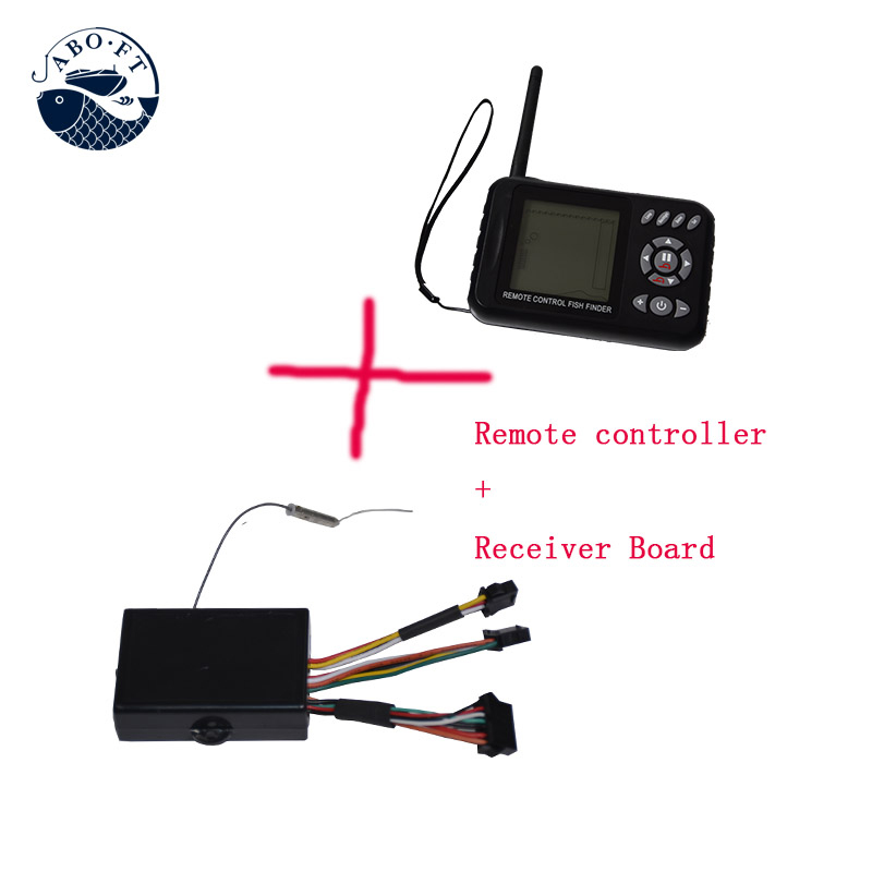 2.4Ghz JABO 2BL display remote controller plus receiver with sonar fish finder for JABO-2BL RC fishing tools free shipping jabo 2bl 20ah 2 4ghz sonar fish finder bait boat for fishing tools with sonar fish finder