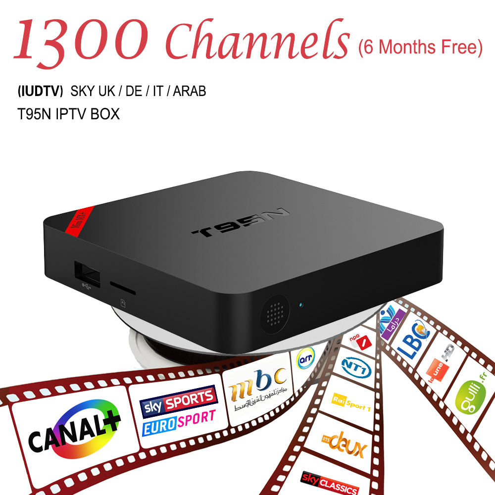ФОТО Europe IPTV Box Android 6.0 TV Box IPTV Receiver & 1700 Live Arabic French Turkish Netherlands IPTV Channels Android TV Box