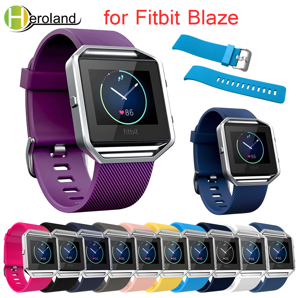 New Large Size Various Colors Sport Wristband For Fitbit Blaze Band Soft Silicone Watch Band 23mm Width For Fitbit Blaze Watch