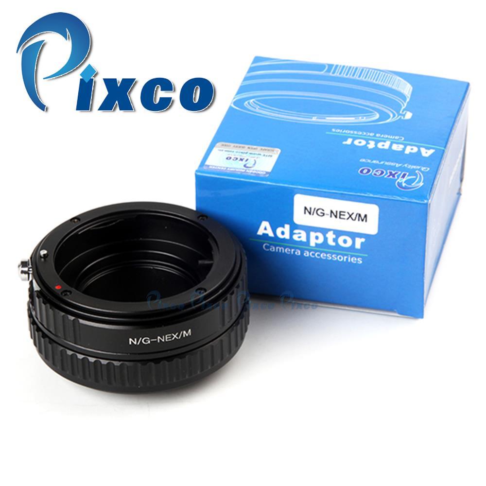 Pixco FMTI Adjustable Focusing Macro To Infinity Adapter Suit For  Nik.on G AF-S AI F Lens To NEX NEX-5T NEX-3N NEX-6 Camera
