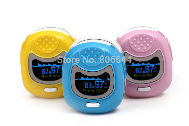 2017 Hot Sale 1pc Children Color OLED Fingertip Pediatric Pulse Oximeter - Spo2 Monitor Kids Three Colors Optional