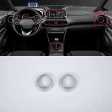 Car Styling ABS Chrome interior auto accessories front side air vent cover For HYUNDAI KONA ENCINO 2018 for hyundai kona encino 2017 2018 rear window side triangle cover trim abs chrome 4pcs set car styling accessories