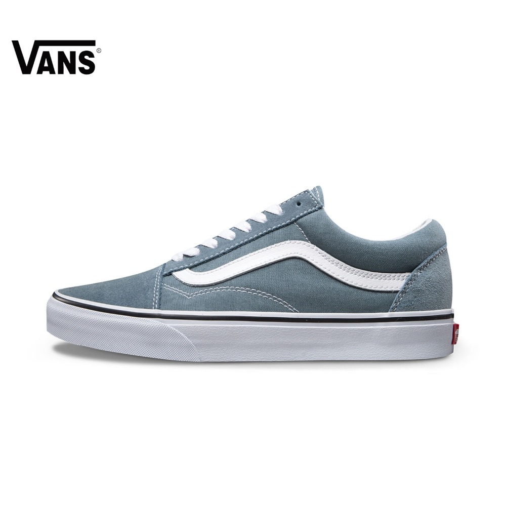 Original Vans Blue Color Unisex Men's and Women's Skateboarding Shoes Sports Shoes Canvas Shoes  Sneakers   free shipping