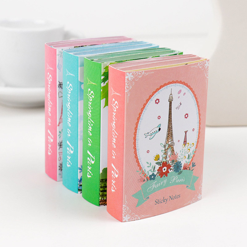 Korean Stationery Creative Paris Tower 6 Folding Memo Pad Kawaii Sticky Notes Writing Pads Office School Supplies For Kids Gift