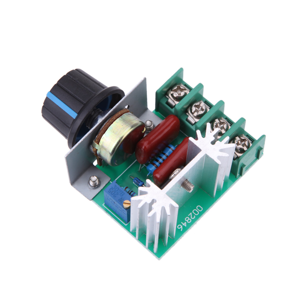 AC 50-220V 25A 2000W Motor Controller SCR High-power Electronic Voltage Regulator Module Motor Speed Controller