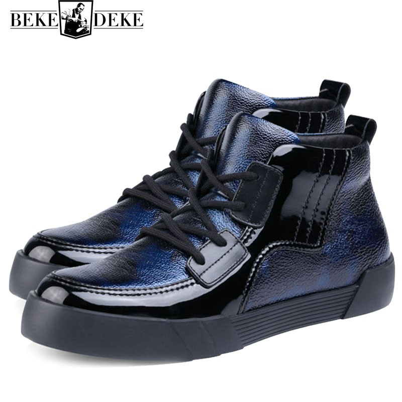Genuine Leather Sneakers Men Autumn Winter Warm Camouflage High Top Platform Shoes Men Fashion Brand Trainers Chaussures Hommes fashion camouflage printing tank top for men